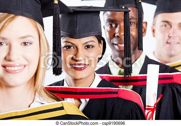 group of multiracial college graduates  - csp9190696