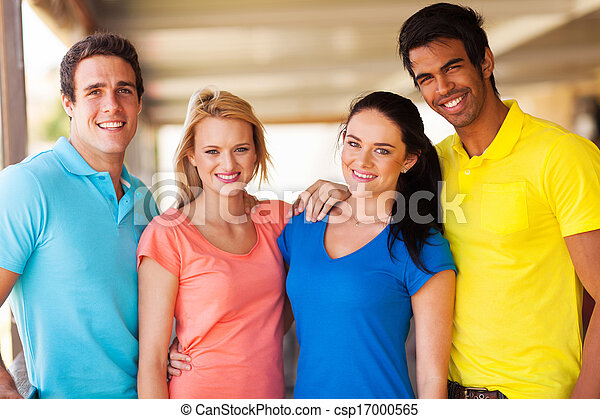 group of multiracial friends - csp17000565
