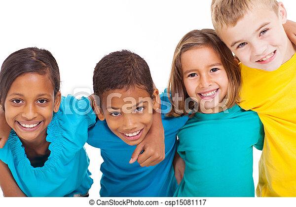group of multiracial kids - csp15081117