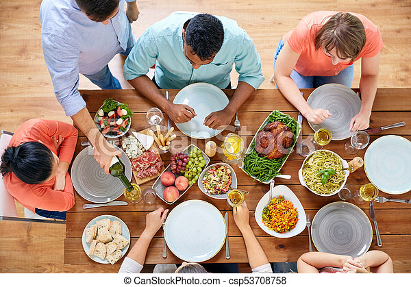 Incredible Group Of People Eating At Table With Food Download Free Architecture Designs Embacsunscenecom