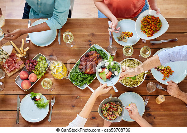 Astonishing Group Of People Eating At Table With Food Download Free Architecture Designs Embacsunscenecom