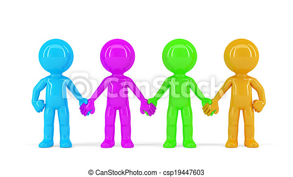 group of people holding hands isolated contains clipping stock rh canstockphoto com Cartoon People Holding Hands Drawings of People Holding Hands