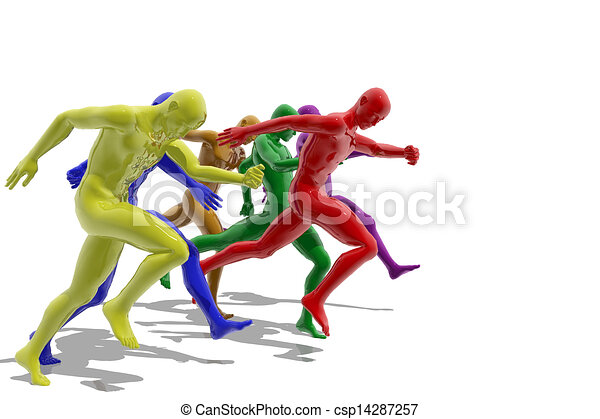 Group of people running - csp14287257