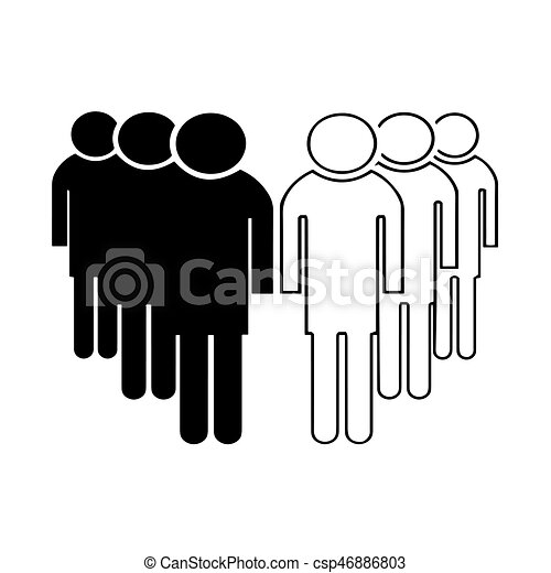 group of people vector - csp46886803