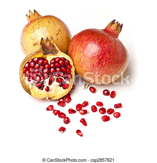 Group of Pomegranate with seeds - csp2857621