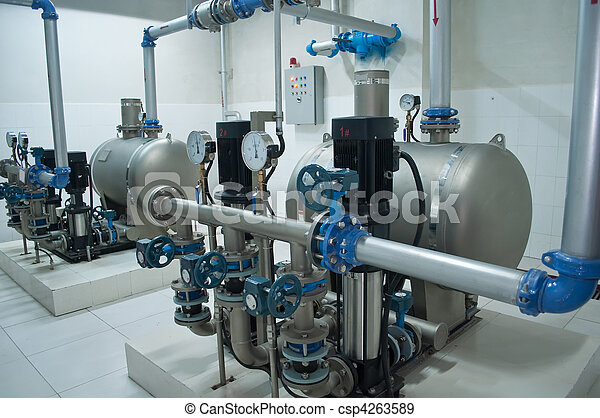 Group of powerful pumps - csp4263589