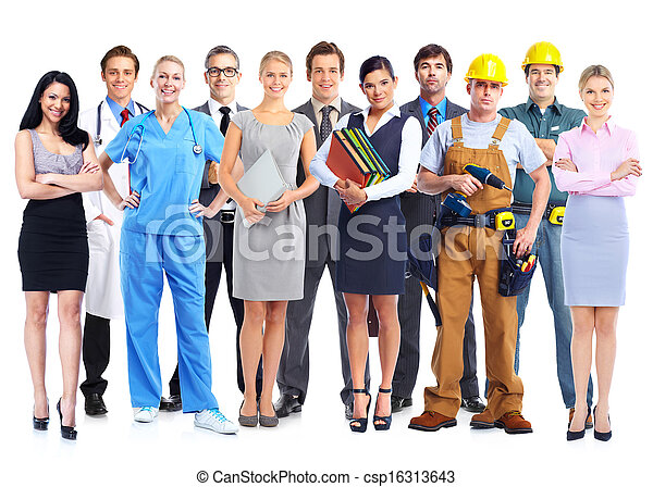 Group of professional workers. - csp16313643