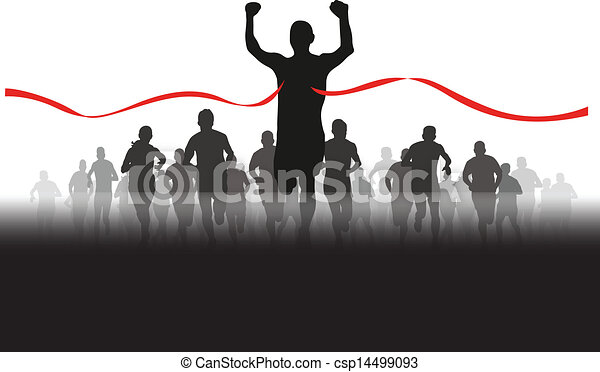group of runners - csp14499093