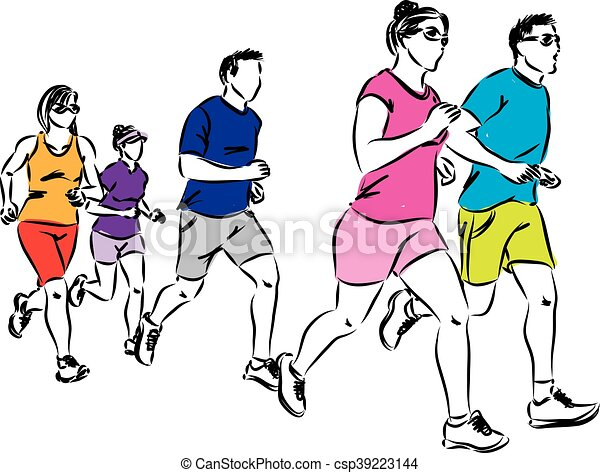 group of runners illustration eps vector search clip art rh canstockphoto com runner clip art images runner clip art images