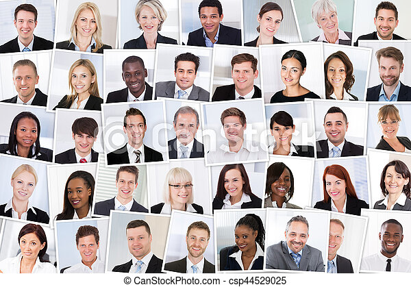 Group Of Smiling Businesspeople - csp44529025