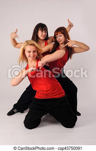 Group of smiling girls - csp43750091