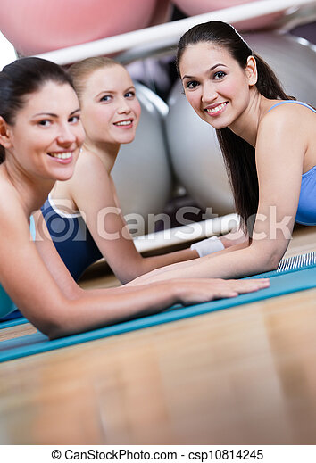 Group of sport women have a rest - csp10814245