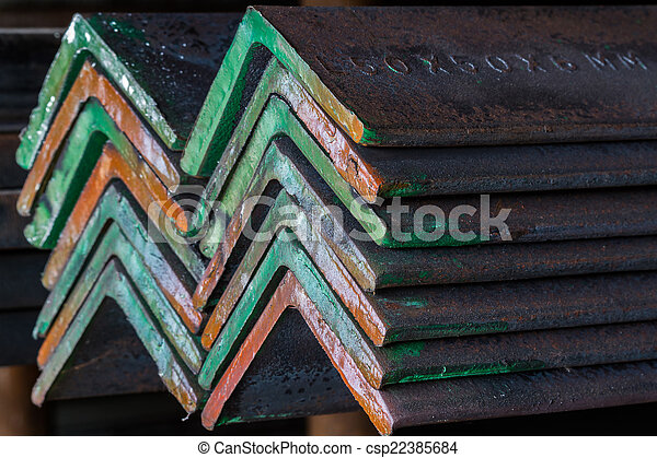Group of Steel angle. - csp22385684