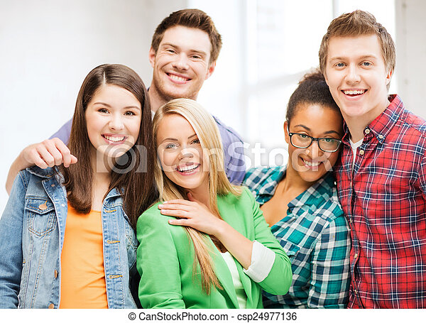 group of students at school - csp24977136