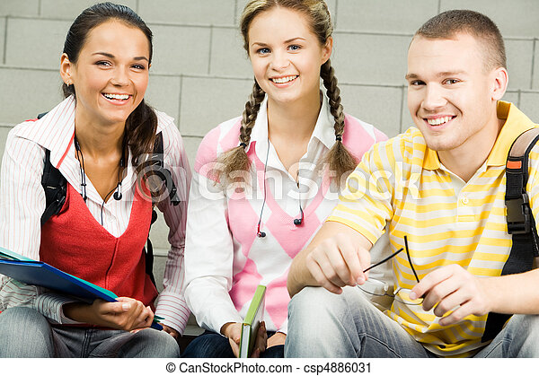 Group of students - csp4886031