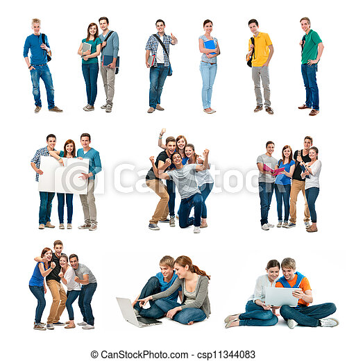 Group of students - csp11344083