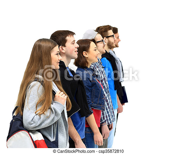 Group of Students Standing - csp35872810