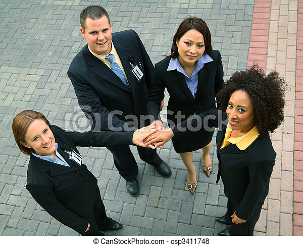Group Of Successful Business People - csp3411748