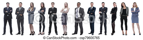 group of successful business people isolated on white - csp79600765