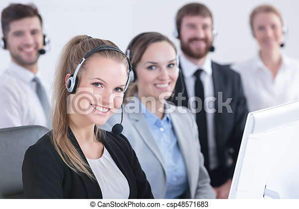 Group of telemarketers - csp48571683