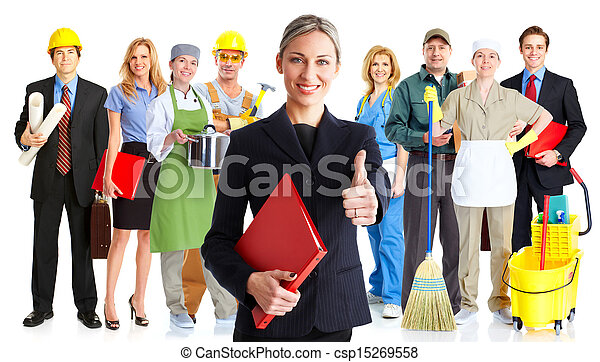 Group of workers. - csp15269558