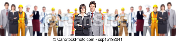 Group of workers. - csp15192041