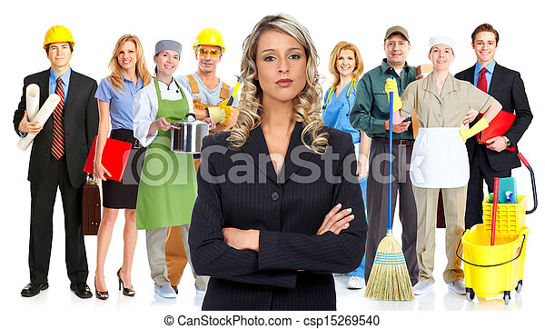 Group of workers. - csp15269540