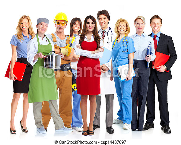 Group of workers. - csp14487697