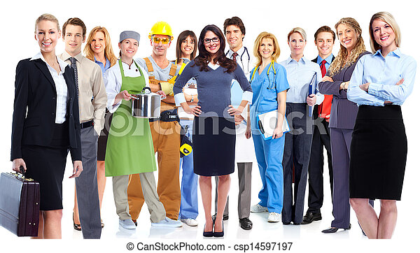 Group of workers. - csp14597197