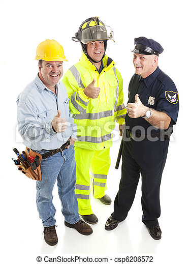 Group of Workers - Thumbsup - csp6206572