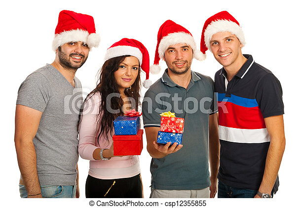 Group of Xmas friends - csp12355855