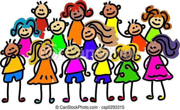 group photo group of kids posing for a photo toddler art stock rh canstockphoto com group clip art free group clip art in word