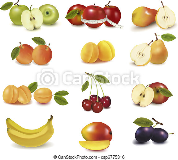 Group with different sorts of fruit - csp6775316