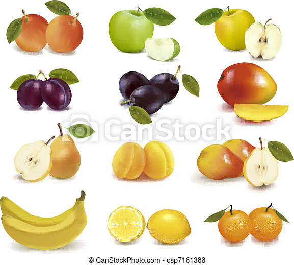 Group with different sorts of fruit - csp7161388