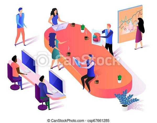groupe, business, fonctionnement, arrière-plan., équipe, blanc - csp67661285
