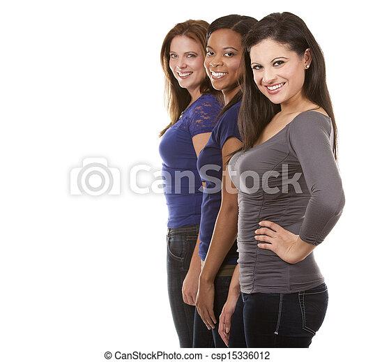 groupe, désinvolte, femmes - csp15336012