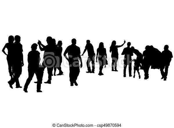 Groupe De Personnes De Silhouette Stock Illustrations, Vecteurs, & Clipart  – (16,239 Stock Illustrations)
