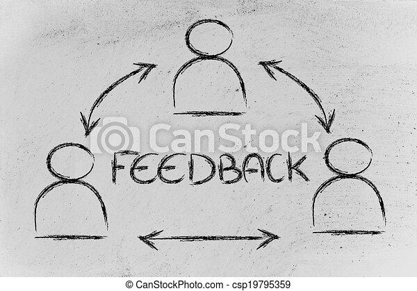 groupe, dialoguer, gens, processus, conception, réaction - csp19795359
