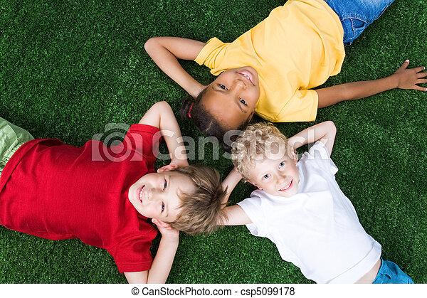 groupe, enfants - csp5099178