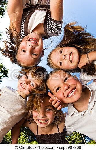groupe, enfants - csp5907268