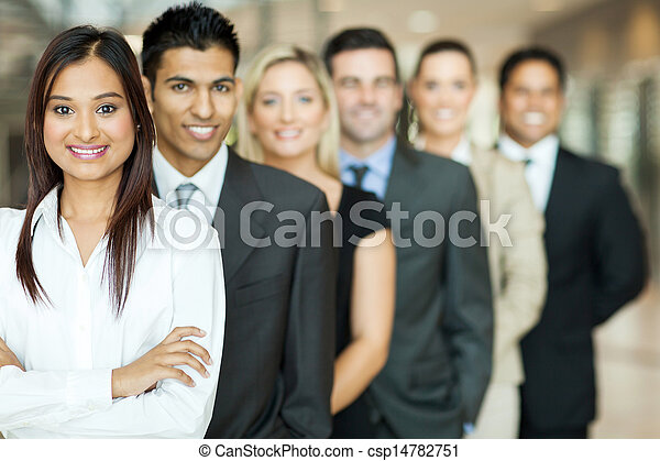groupe, equipe affaires - csp14782751