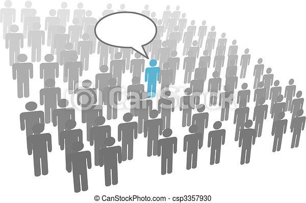 groupe, foule, compagnie, personne, individu, parole, social - csp3357930