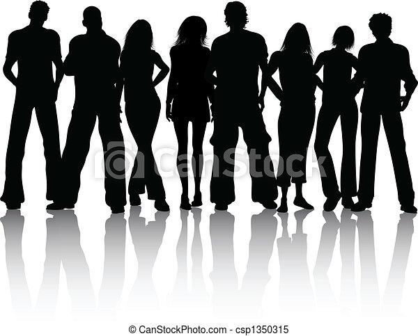 groupe, gens - csp1350315