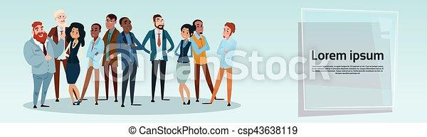 groupe, professionnels, businesspeople, mélange, course, équipe - csp43638119