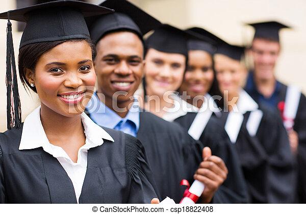 groupe, université, multiculturel, diplômés - csp18822408