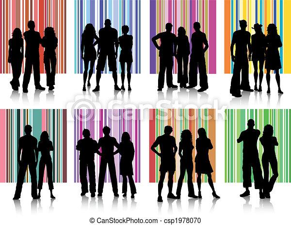 groupes, gens - csp1978070