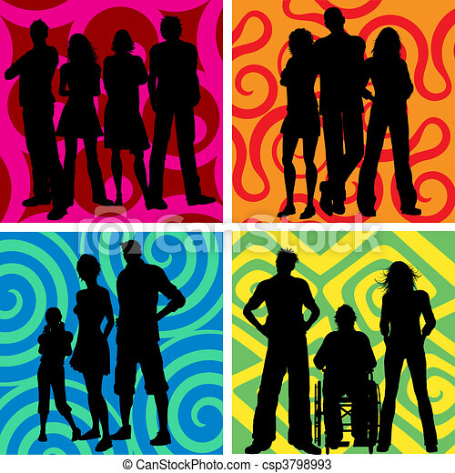 groupes, gens - csp3798993