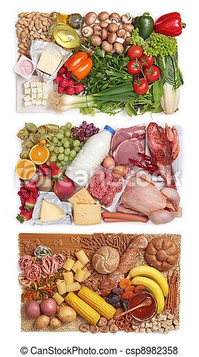groupes nourriture, combiner - csp8982358