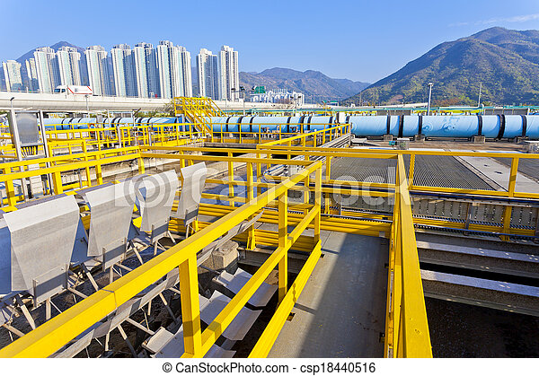 Groups of storage tanks with waste water - csp18440516