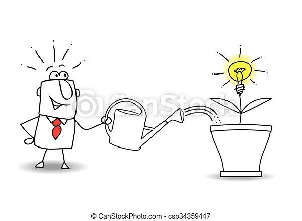 Grow an idea - csp34359447